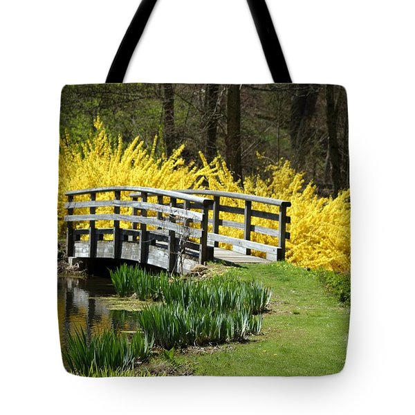 Golden Days Of Spring Tote Bag by Living Color Photography Lorraine Lynch