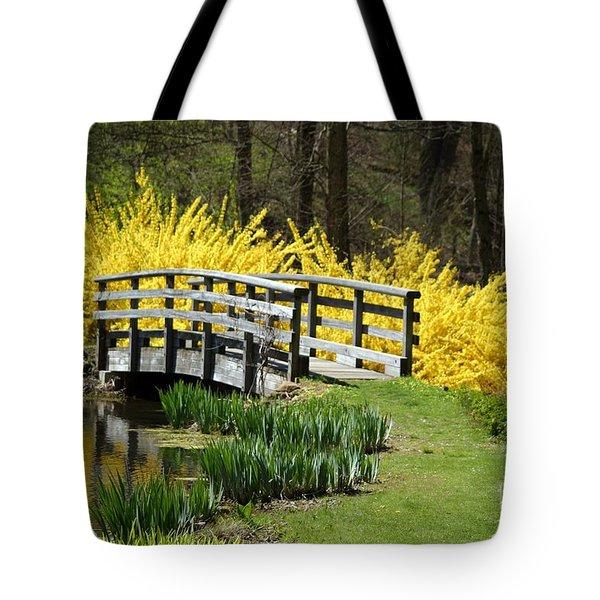 Golden Days Of Spring Tote Bag
