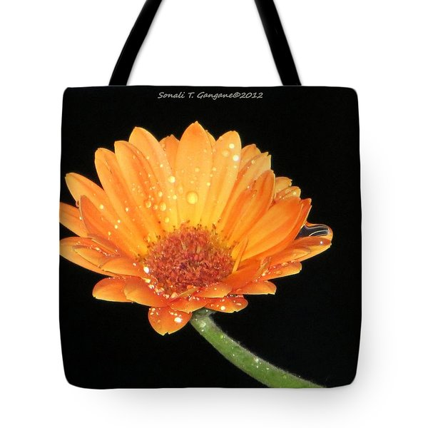 Golden Droplets Tote Bag by Sonali Gangane