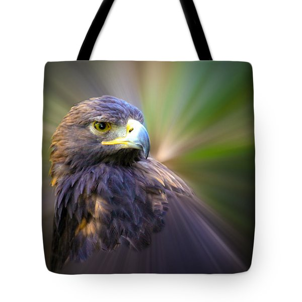 Golden Eagle Fade Tote Bag by Steve McKinzie