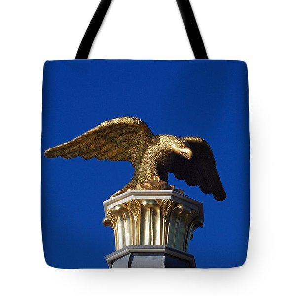 Golden Eagle Tote Bag by Lisa Phillips