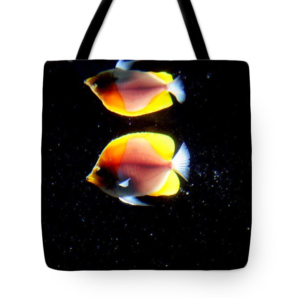 Golden Fish Reflection Tote Bag