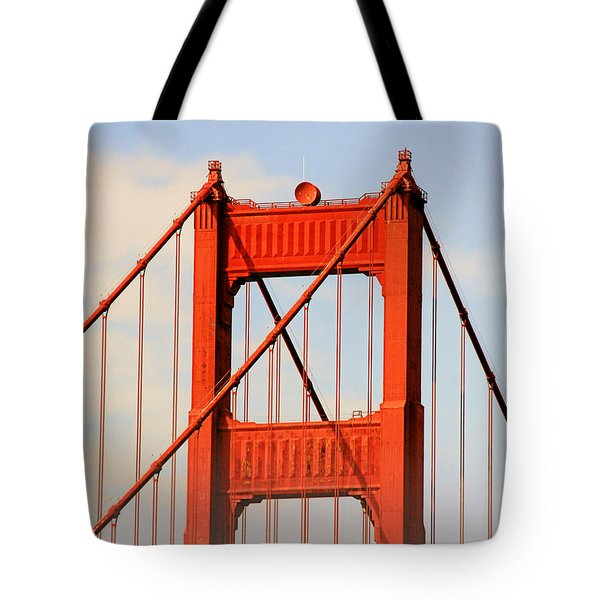 Golden Gate Bridge - Nothing Equals Its Majesty Tote Bag by Christine Till