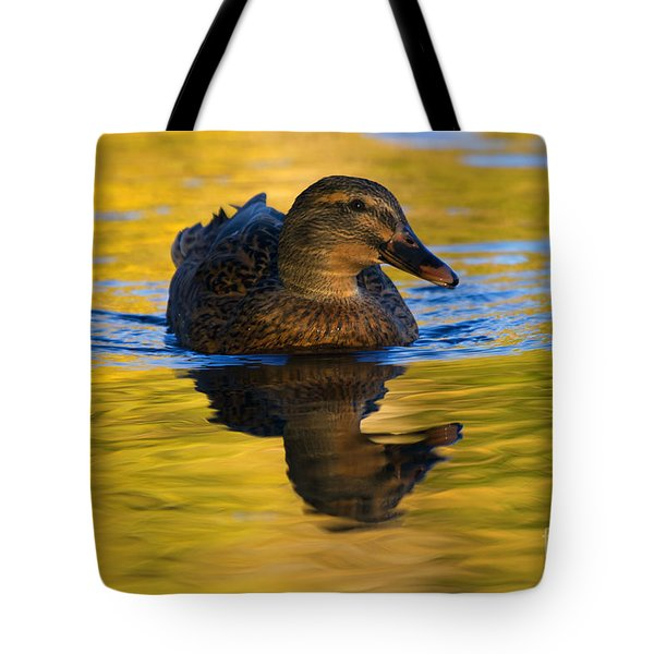 Golden Hen Tote Bag by Mike  Dawson