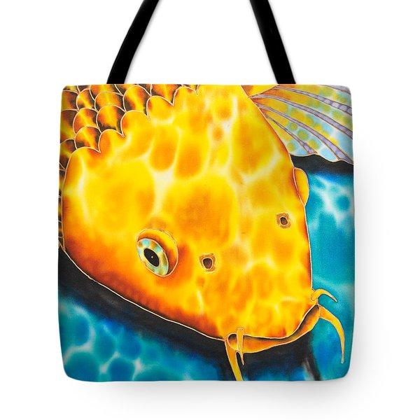 Golden Koi Tote Bag by Daniel Jean-Baptiste