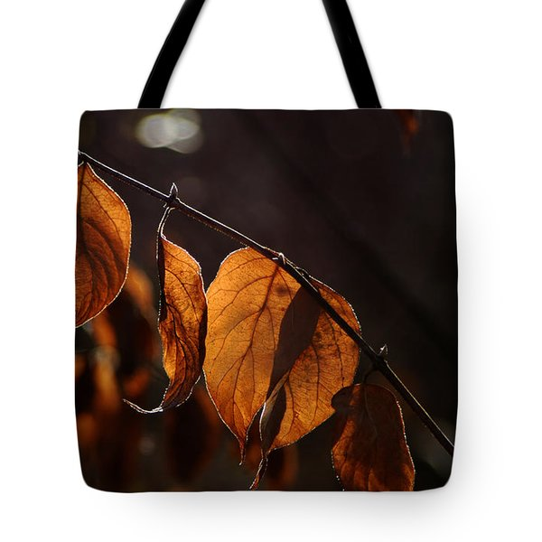 Tote Bag featuring the photograph Golden Leaves by Vilas Malankar