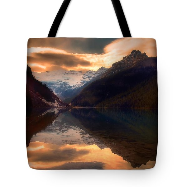 Golden Light On The Rockies Tote Bag by Tara Turner