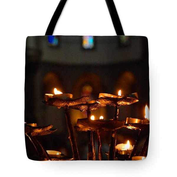 Tote Bag featuring the photograph Golden Lights by Dany Lison