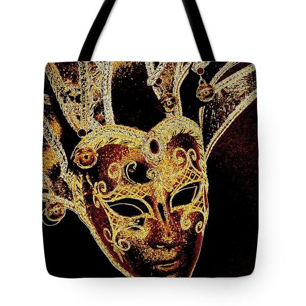 Golden Mask Tote Bag