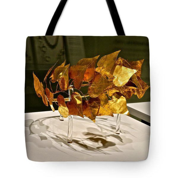 Tote Bag featuring the photograph Golden Roman Crown by Kirsten Giving