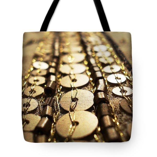 Golden Sequins Highway Tote Bag by Sumit Mehndiratta