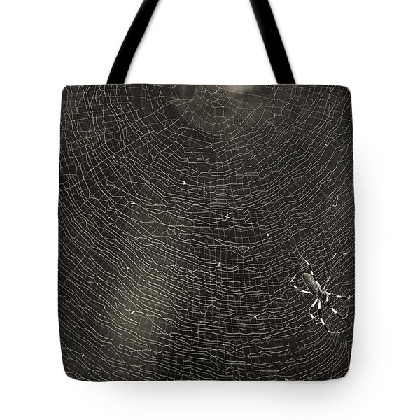 Golden Silk Spider  Tote Bag by Patrick M Lynch