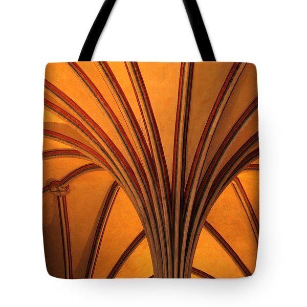 Golden Vaulted Ceiling In Malbork Castle II Tote Bag by Greg Matchick