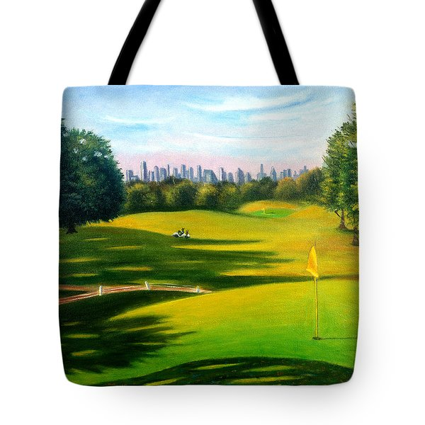 Golf Course At Forest Park Tote Bag