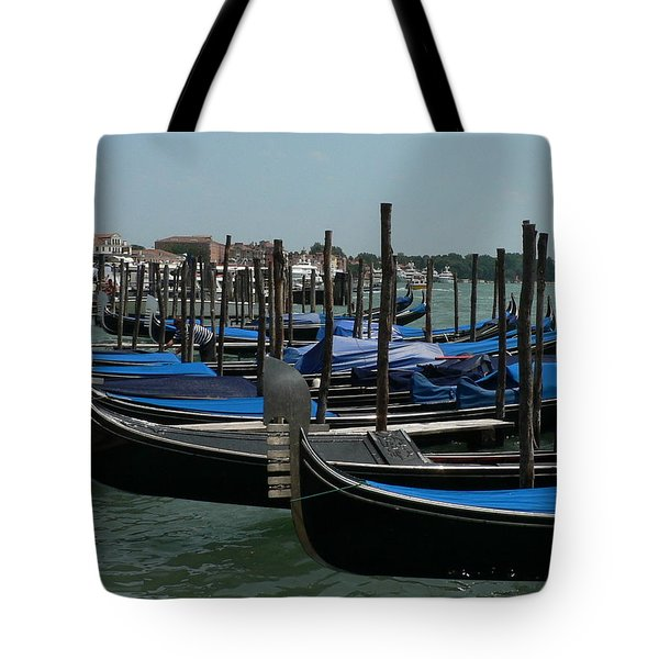 Tote Bag featuring the photograph Gondolas by Laurel Best