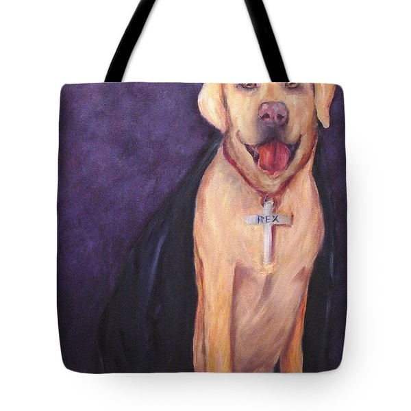 Tote Bag featuring the painting Good Habit Rex by Carol Berning