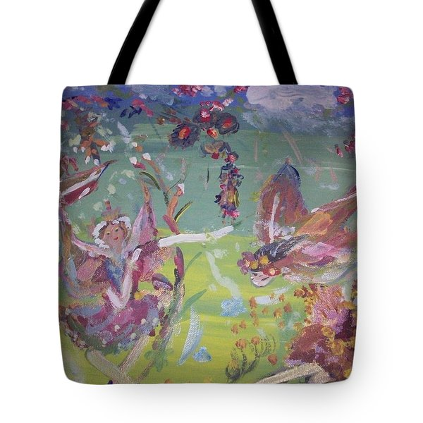 Good Morning Fairies Tote Bag by Judith Desrosiers