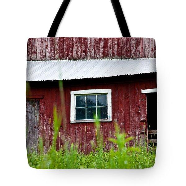 Good Ole Red Barn Tote Bag by Karol Livote
