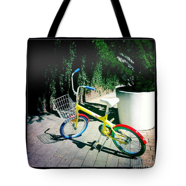 Tote Bag featuring the photograph Google Mini Bike by Nina Prommer