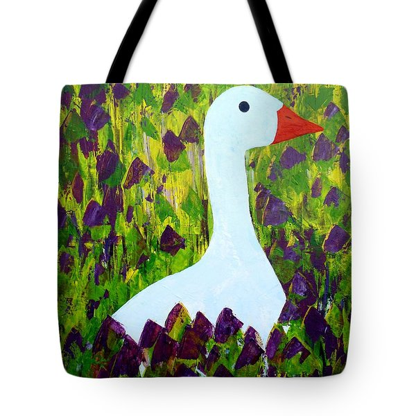 Tote Bag featuring the painting Goose by Barbara Moignard