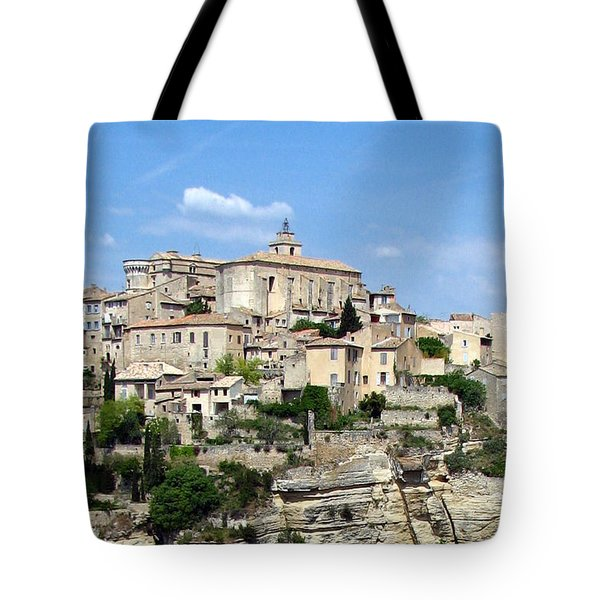Gordes In Provence Tote Bag by Carla Parris