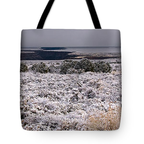 Gorge Snow Tote Bag