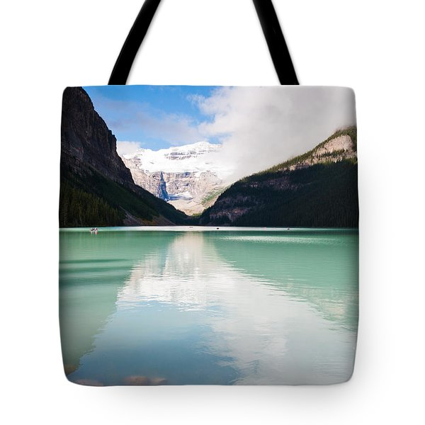 Tote Bag featuring the photograph Gorgeous Lake Louise by Cheryl Baxter
