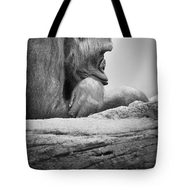 Gorilla Resting Tote Bag by Darren Greenwood