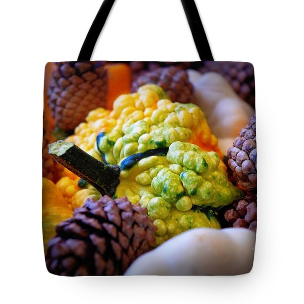 Tote Bag featuring the photograph Gourds 2 by Deniece Platt