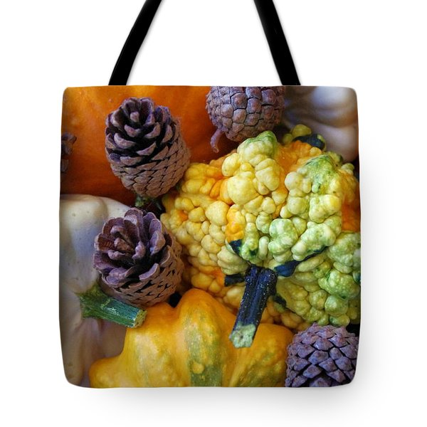 Tote Bag featuring the photograph Gourds 5 by Deniece Platt