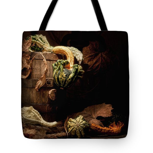 Gourds And Leaves Still Life Tote Bag