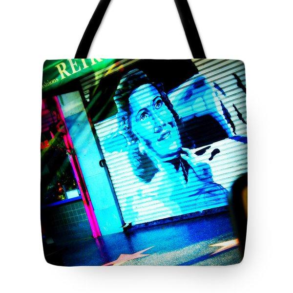 Grab A Star On Sunset Boulevard In Hollywood Tote Bag by Susanne Van Hulst