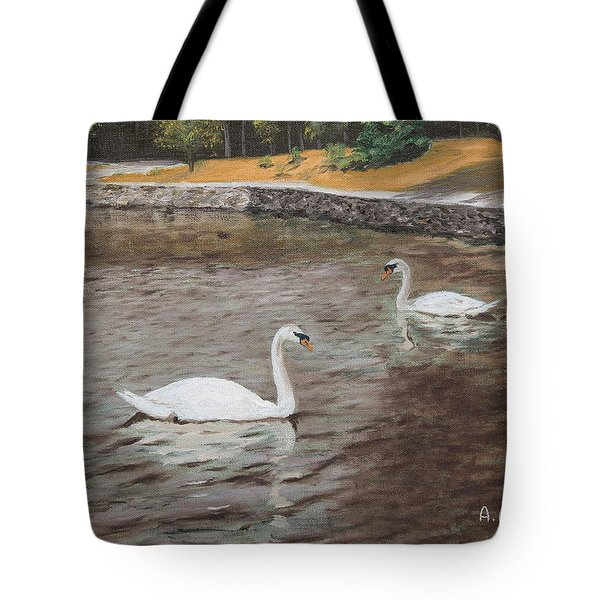 Graceful Swimmers Tote Bag