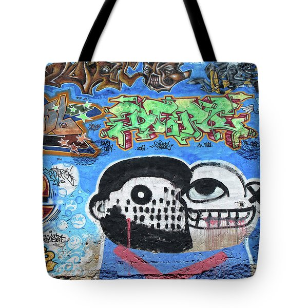 Tote Bag featuring the photograph Graffiti Provence France by Dave Mills