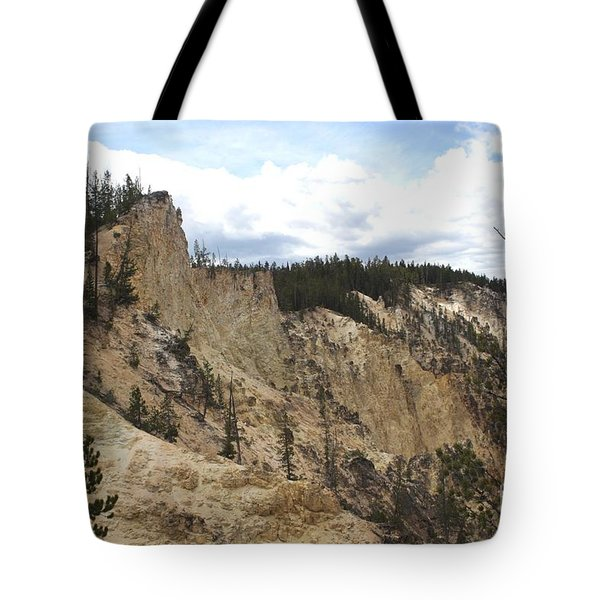 Grand Canyon Cliff In Yellowstone Tote Bag by Living Color Photography Lorraine Lynch