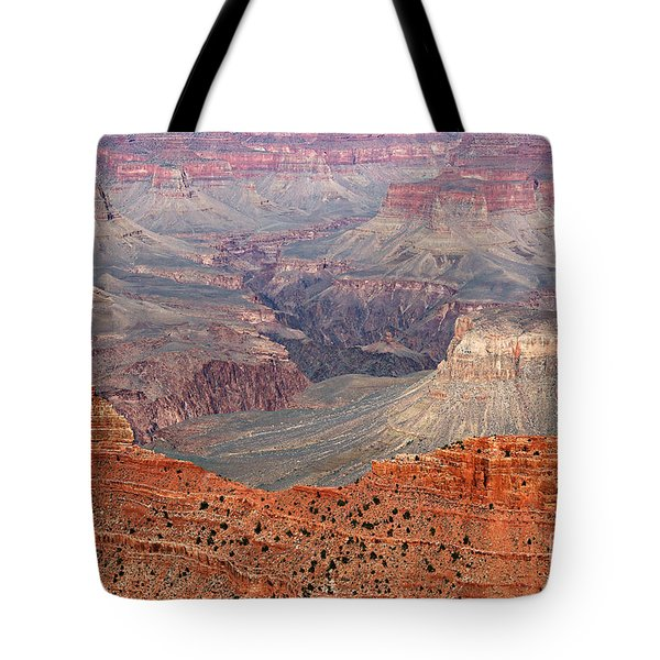 Grand Canyon Crimson Ridge Tote Bag by Michael Kirsh