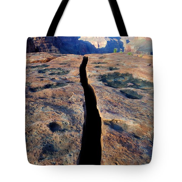 Grand Canyon Dividing Line Tote Bag by Bob Christopher