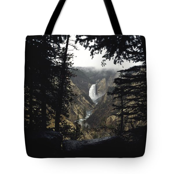 Tote Bag featuring the photograph Grand Canyon Of The Yellowstone  by J L Woody Wooden