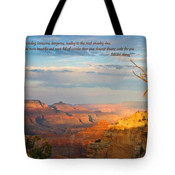 Grand Canyon Splendor - With Quote Tote Bag