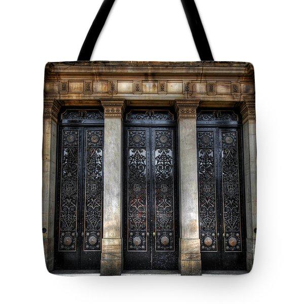 Grand Door - Leeds Town Hall Tote Bag by Yhun Suarez