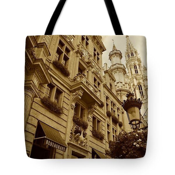 Grand Place Perspective Tote Bag by Carol Groenen
