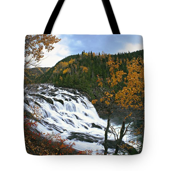 Grand-sault Falls On Madeleine River Tote Bag by Yves Marcoux