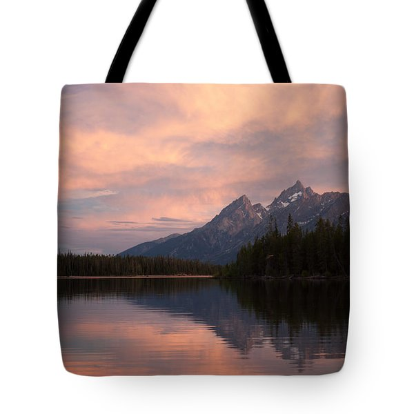 Grand Teton Sunset Tote Bag