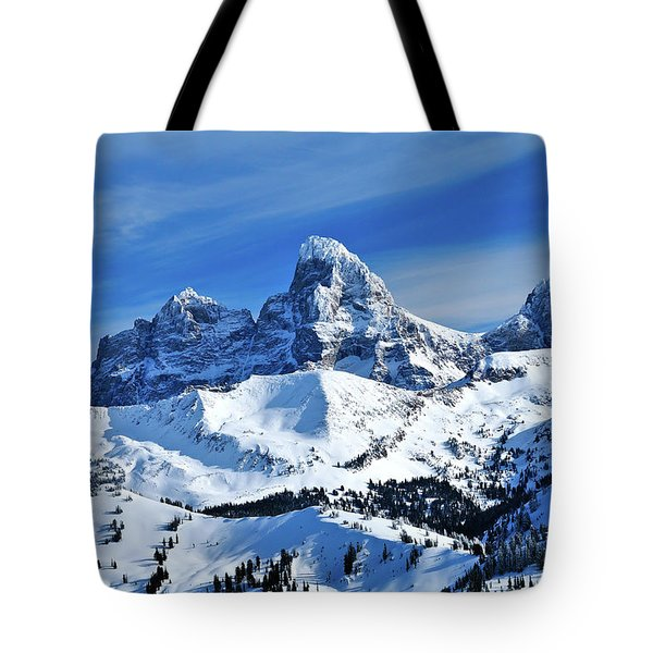 Grand Teton Winter Tote Bag
