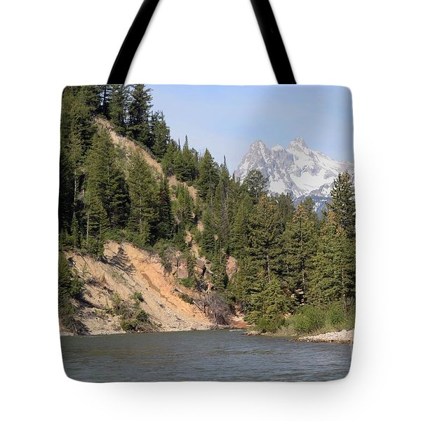 Grand Tetons From Snake River Tote Bag by Living Color Photography Lorraine Lynch