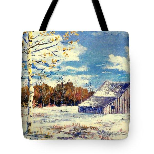 Grandma's Barn Tote Bag by Lou Ann Bagnall