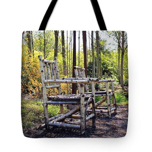 Grandmas Country Chairs Tote Bag by Athena Mckinzie