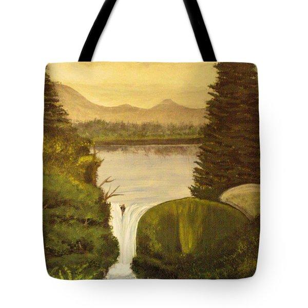 Grandpa Mountain Tote Bag by Mitzi Foreman