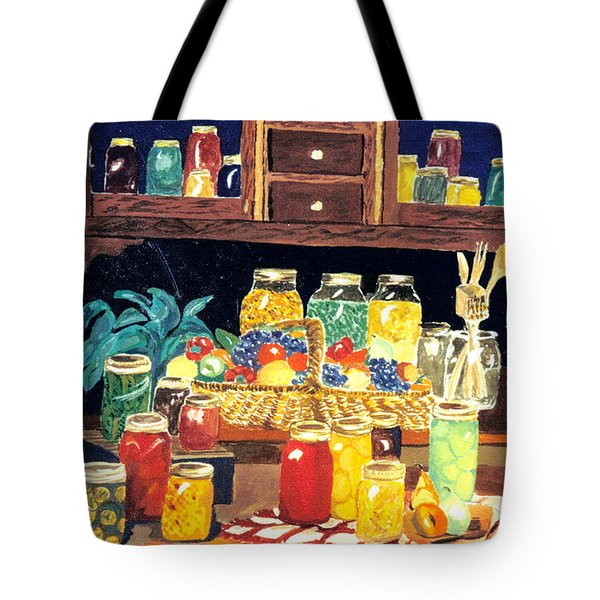 Tote Bag featuring the painting Granny's Cupboard by Julie Brugh Riffey