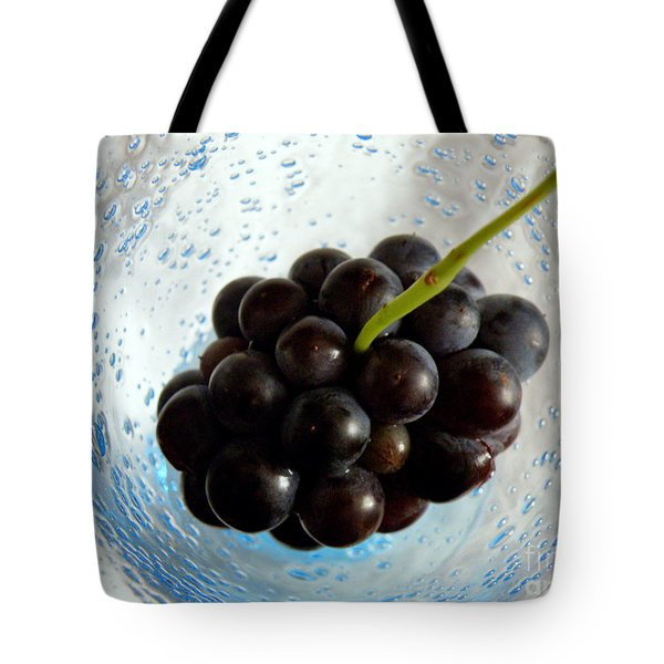 Tote Bag featuring the photograph Grape Cluster In Biot Glass by Lainie Wrightson